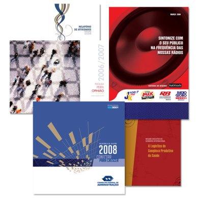 Relatórios e projetos editoriais